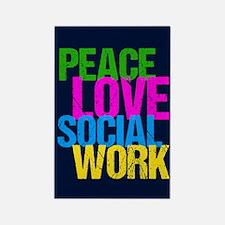 Social Work Cute Rectangle Magnet