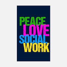 Social Work Cute Sticker (Rectangle)
