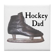 Hockey Dad Vintage Tile Coaster