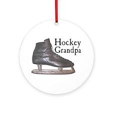 Hockey Grandpa Vintage Ornament (Round)