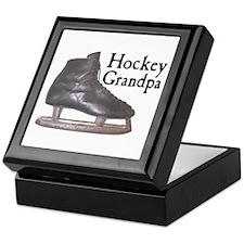 Hockey Grandpa Vintage Keepsake Box