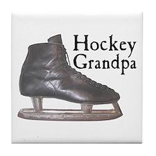 Hockey Grandpa Vintage Tile Coaster