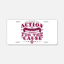 Multiple Myeloma Action Aluminum License Plate