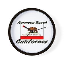 Hermosa Beach California Wall Clock
