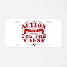 Melanoma Action Aluminum License Plate
