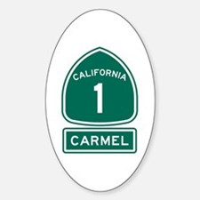 Carmel California Sticker (Oval)