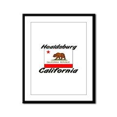 Healdsburg California Framed Panel Print