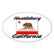 Healdsburg California Oval Decal