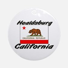 Healdsburg California Ornament (Round)