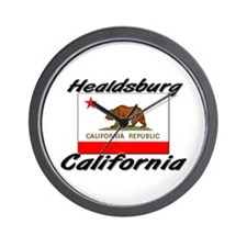 Healdsburg California Wall Clock
