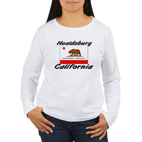 Healdsburg California Women's Long Sleeve T-Shirt