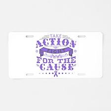 Hodgkins Lymphoma Action Aluminum License Plate