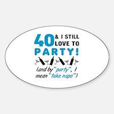 Unique 40th party Decal