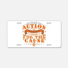 Kidney Cancer Action Aluminum License Plate