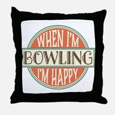 Bowling Team vintage Throw Pillow