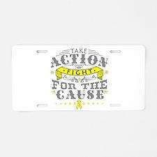 Ewing Sarcoma Action Aluminum License Plate