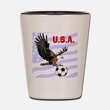 USA Soccer Eagle Shot Glass