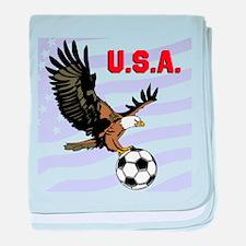 USA Soccer Eagle baby blanket