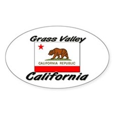 Grass Valley California Oval Decal