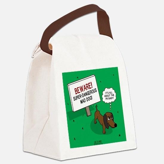 Dangerous Dachshund Canvas Lunch Bag