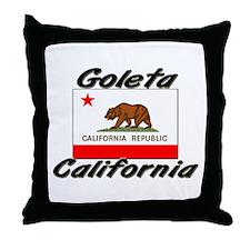 Goleta California Throw Pillow
