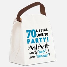Funny Turning 70 Canvas Lunch Bag