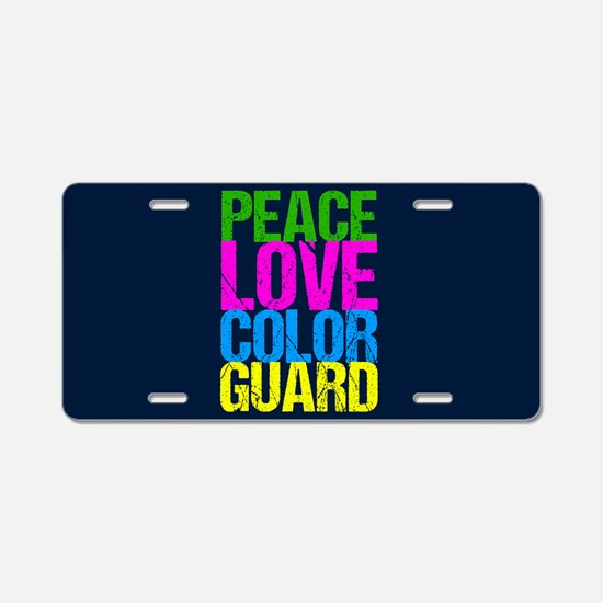 Color Guard Cute Aluminum License Plate