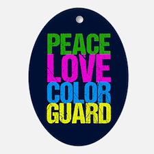 Color Guard Cute Oval Ornament