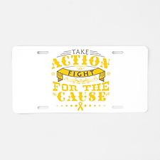 Childhood Cancer Action Aluminum License Plate