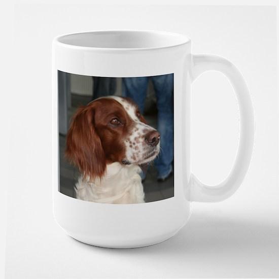 irish red and white setter Mugs