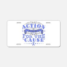 Esophageal Cancer Action Aluminum License Plate