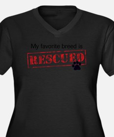 Favorite Breed Is Rescued Plus Size T-Shirt