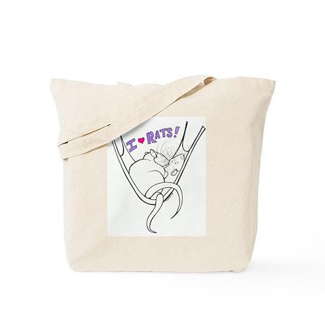 I Heart Rats Tote Bag