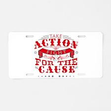 Bone Cancer Action Aluminum License Plate