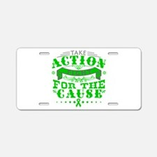 Adrenal Cancer Action Aluminum License Plate