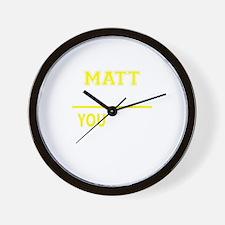MATT thing, you wouldn't understand! Wall Clock