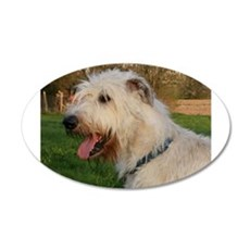 irish wolfhound cream profile Wall Decal