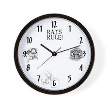 Rats Rule Wall Clock