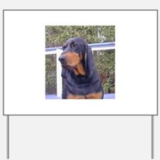 black and tan coonhound Yard Sign