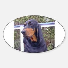 black and tan coonhound Decal