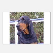 black and tan coonhound Postcards (Package of 8)