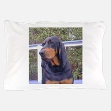 black and tan coonhound Pillow Case