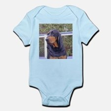 black and tan coonhound Body Suit