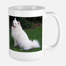 american eskimo full Mugs
