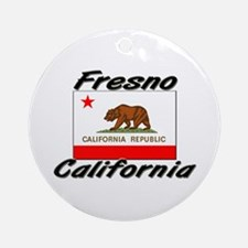 Fresno California Ornament (Round)