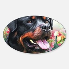 Rottweiler Painting Decal