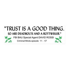 Criminal Minds Trust Quote Wall Decal