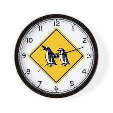 Penguins Crossing, New Zealand Wall Clock
