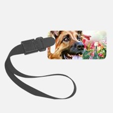 German Shepherd Painting Luggage Tag