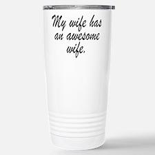 Cute Lesbian marriage Travel Mug